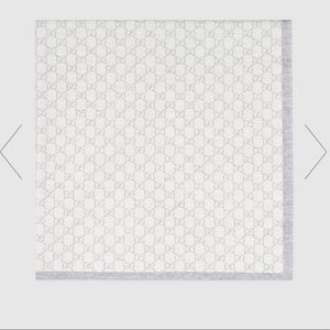Gucci GG Baby Gray Reversible Blanket